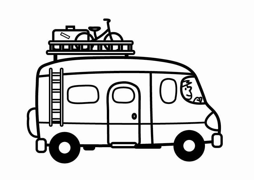 Malvorlage Kleinbus Ausmalbild 24121