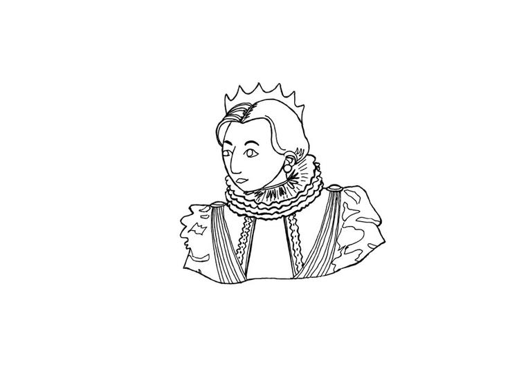 Malvorlage Königin - Kostenlose Ausmalbilder Zum