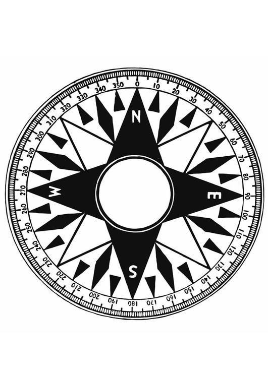 Malvorlage Kompass Ausmalbild 12932