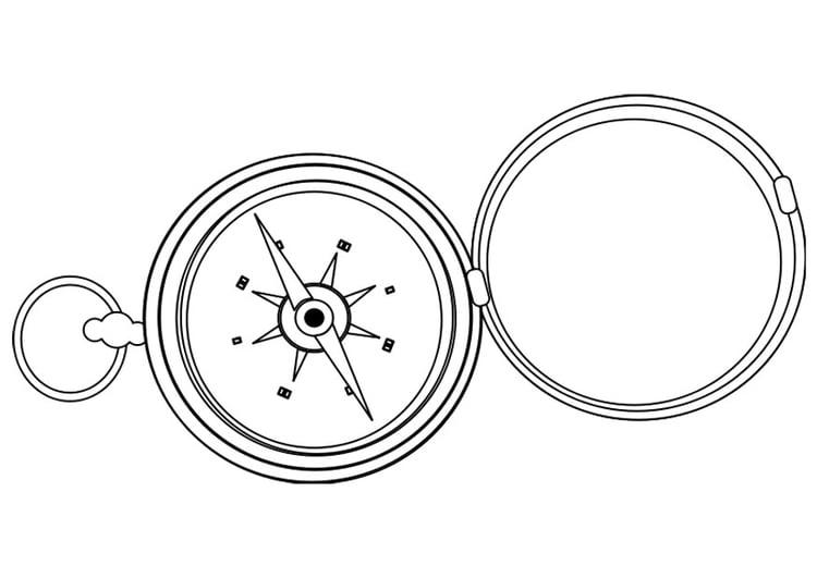 Malvorlage Kompass - Kostenlose Ausmalbilder Zum