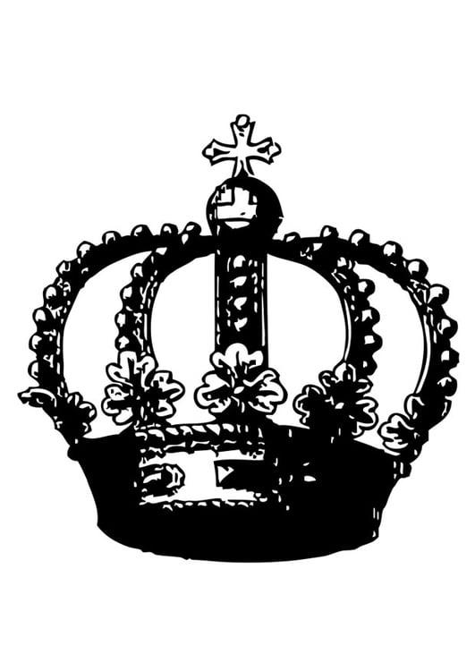 Malvorlage Krone Ausmalbild 26988