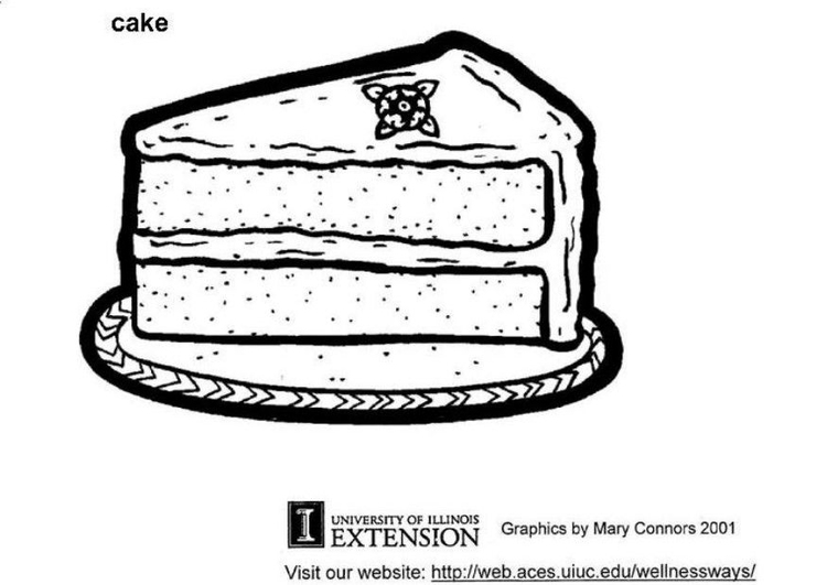 Malvorlage Kuchen - Kostenlose Ausmalbilder Zum Ausdrucken