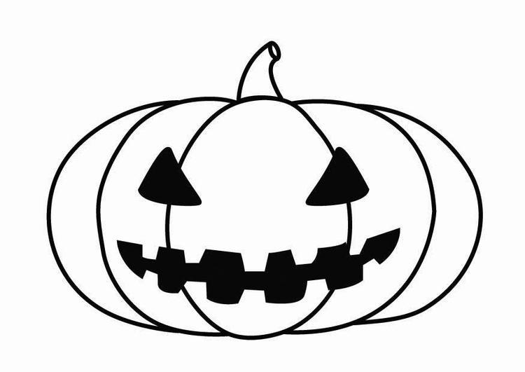 Malvorlage Kürbis Halloween - Kostenlose Ausmalbilder Zum