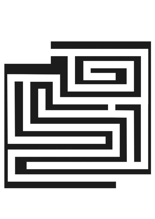 Malvorlage Labyrinth - Kostenlose Ausmalbilder Zum