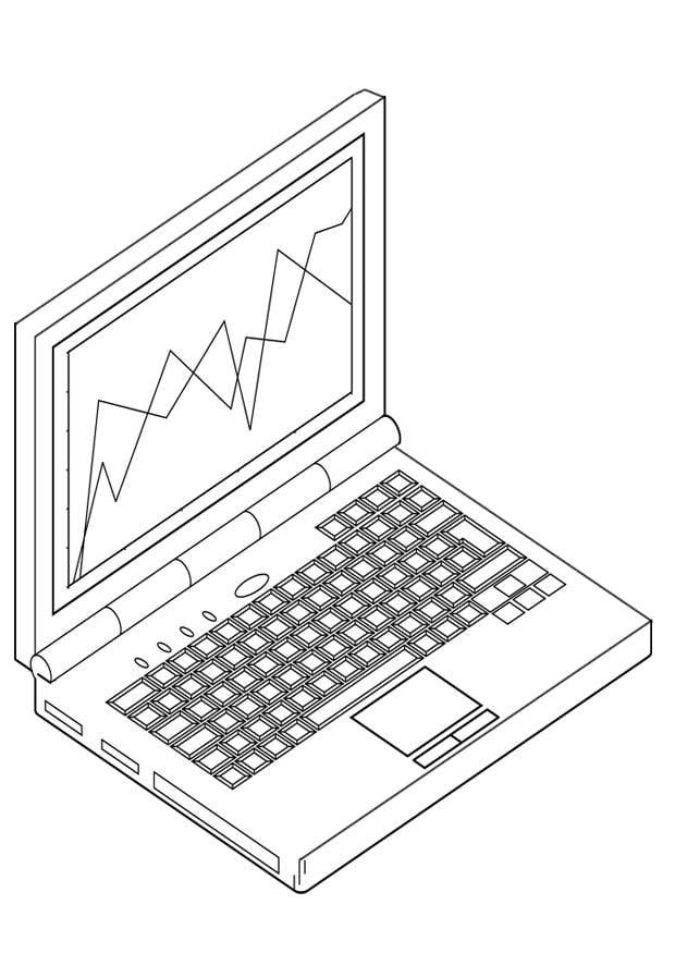 Malvorlage Laptop - Kostenlose Ausmalbilder Zum Ausdrucken