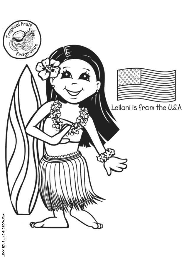 Malvorlage Leilani Aus Den USA Ausmalbild 5633