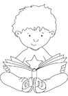 Malvorlage Buch lesen Ausmalbild 5510