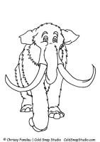 Malvorlage Mammut   Kostenlose Ausmalbilder Zum Ausdrucken.