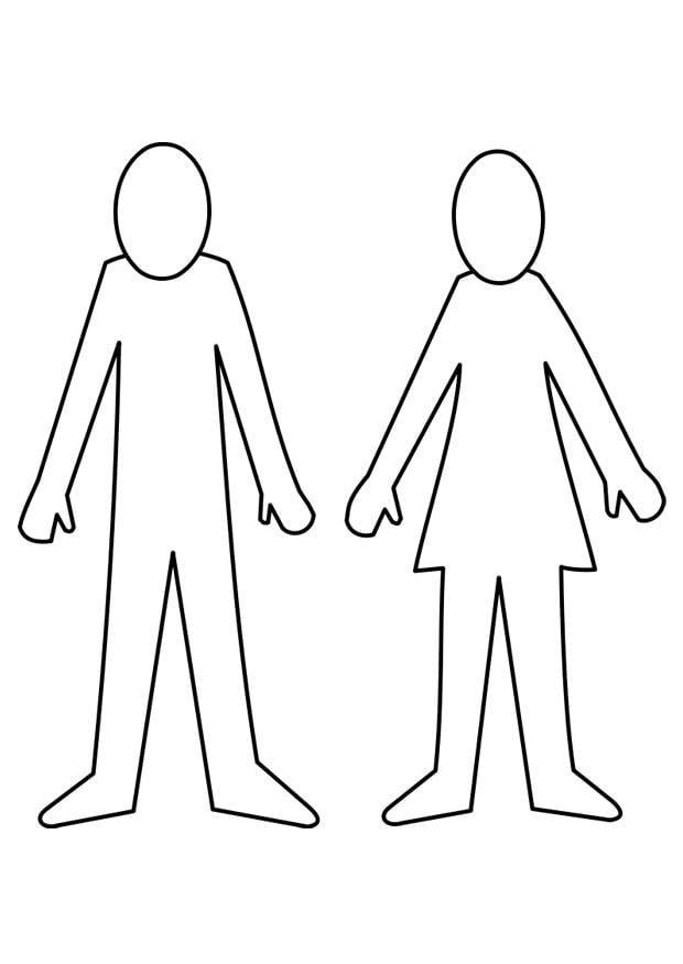 Malvorlage Mann und Frau - Kostenlose Ausmalbilder Zum
