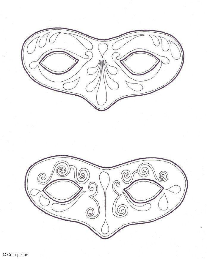 Malvorlage Masken - Kostenlose Ausmalbilder Zum Ausdrucken