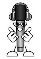 Malvorlage Mikrofon   Musik hören   Ausmalbild 27539.