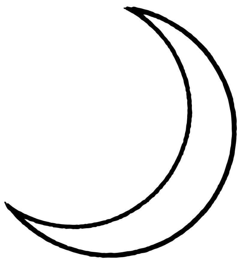 Malvorlage Mond - Kostenlose Ausmalbilder Zum Ausdrucken