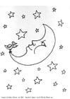 Mond Malvorlage