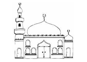 Malvorlage Moschee   Kostenlose Ausmalbilder Zum ...
