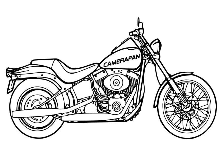 Kleurplaat Crossmotor Ktm Malvorlage Motorrad Ausmalbild