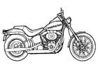 Malvorlage Motorrad - Kostenlose Ausmalbilder Zum