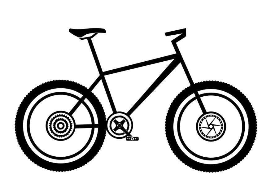 Malvorlage Mountainbike - Kostenlose Ausmalbilder Zum