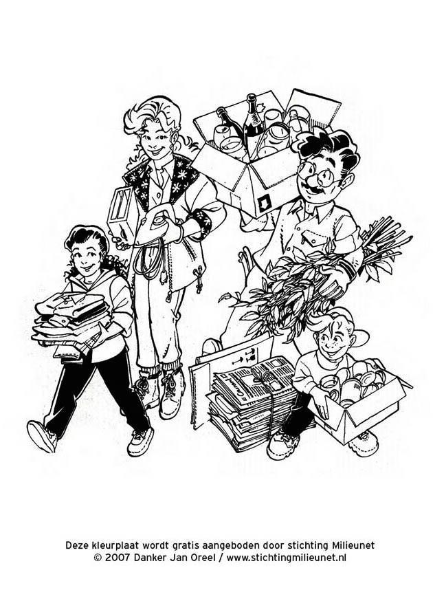 Malvorlage Mülltrennung - Kostenlose Ausmalbilder Zum