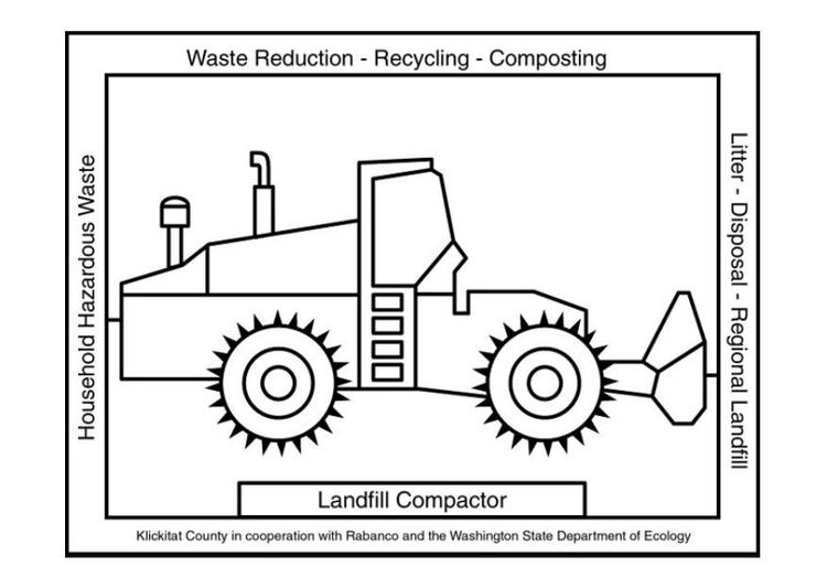 Malvorlage Müllverarbeitung - Kostenlose Ausmalbilder Zum