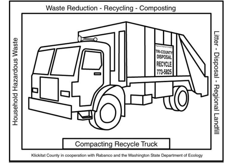 Malvorlage Müllwagen - Kostenlose Ausmalbilder Zum
