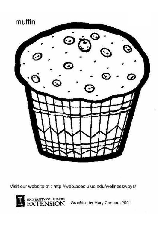 Malvorlage Muffin - Kostenlose Ausmalbilder Zum Ausdrucken