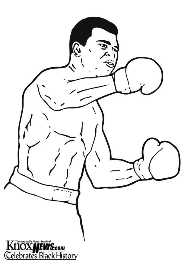 Malvorlage Muhammad Ali Ausmalbild 13333