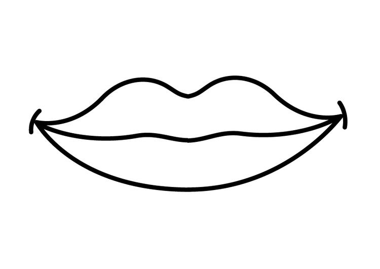 Malvorlage Mund - Kostenlose Ausmalbilder Zum Ausdrucken