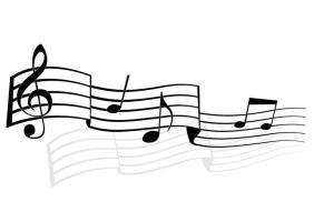 Malvorlage Musiknoten   Ausmalbild 24749.