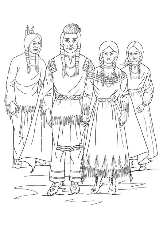 Malvorlage Nimiipu Indianer - Kostenlose Ausmalbilder Zum