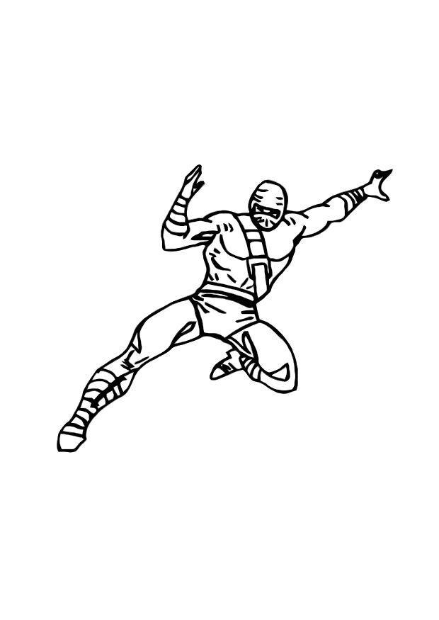 Malvorlage Ninja - Kostenlose Ausmalbilder Zum Ausdrucken