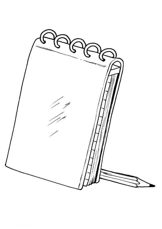 Malvorlage Notizbuch - Kostenlose Ausmalbilder Zum