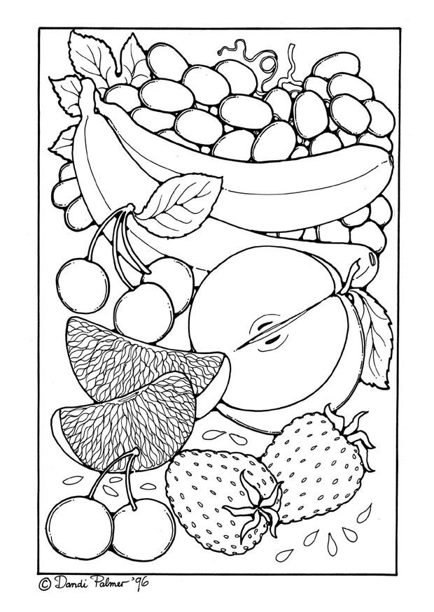 Malvorlage Obst - Kostenlose Ausmalbilder Zum Ausdrucken