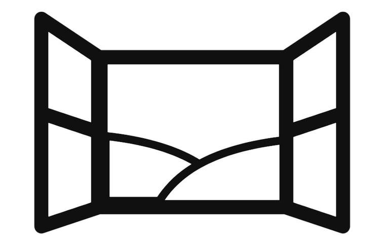 Malvorlage offenes Fenster - Kostenlose Ausmalbilder Zum
