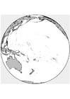 Malvorlage Globus Ausmalbild 15640