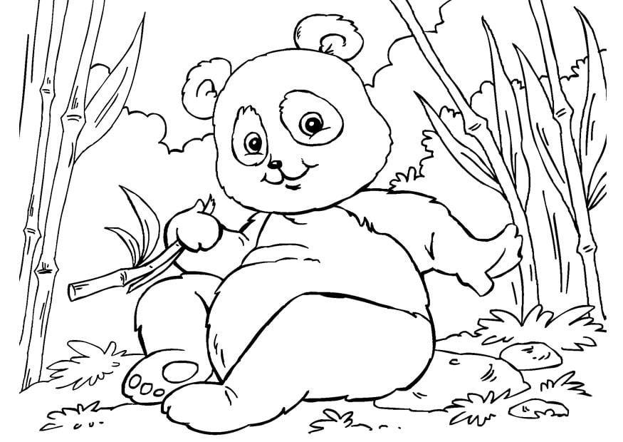 Malvorlage Panda - Kostenlose Ausmalbilder Zum Ausdrucken