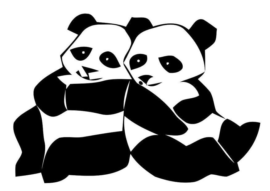 Malvorlage Pandabären - Kostenlose Ausmalbilder Zum