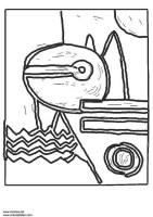 Malvorlage Paul Klee   Kostenlose Ausmalbilder Zum Ausdrucken.