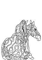 Malvorlage Pferd mit Fohlen   Kostenlose Ausmalbilder Zum ...