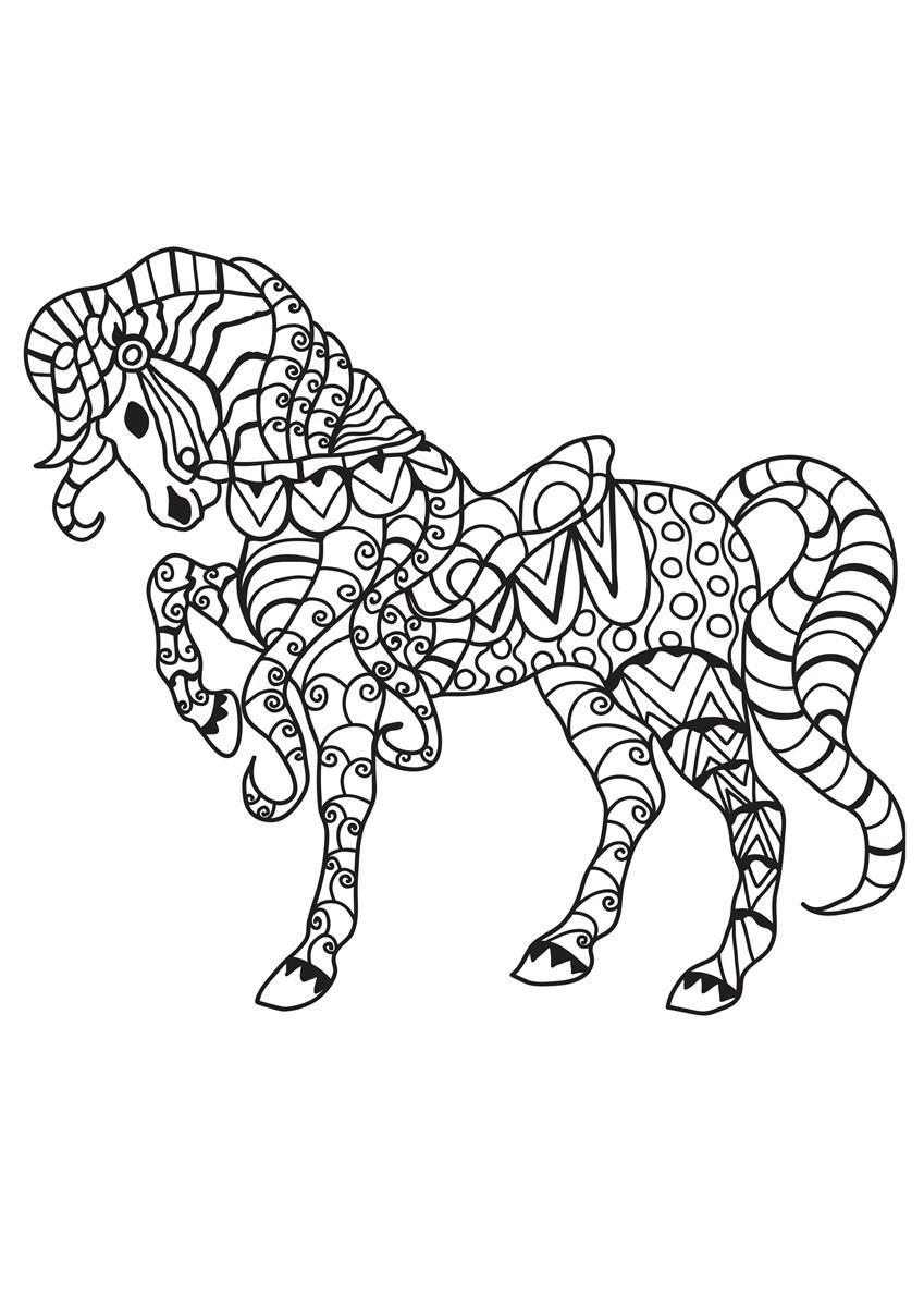 Pferd Mit Fohlen Malvorlage