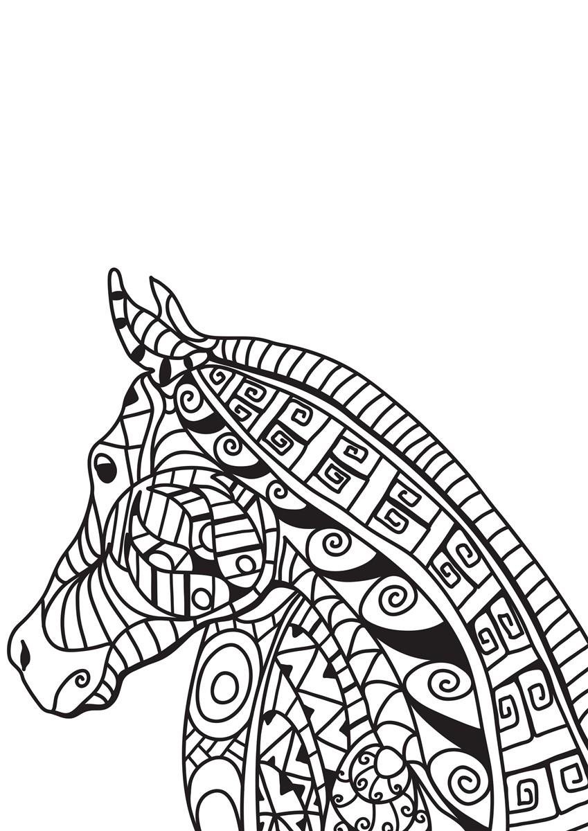 Malvorlage Pferdekopf - Kostenlose Ausmalbilder Zum