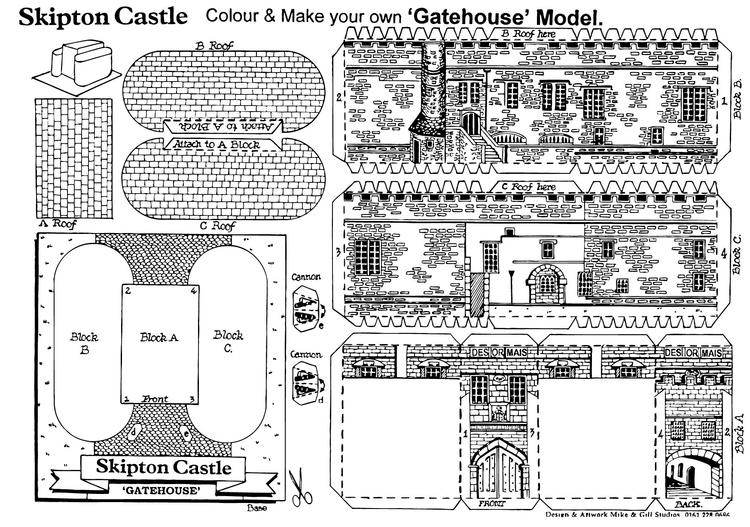 Malvorlage Schloss