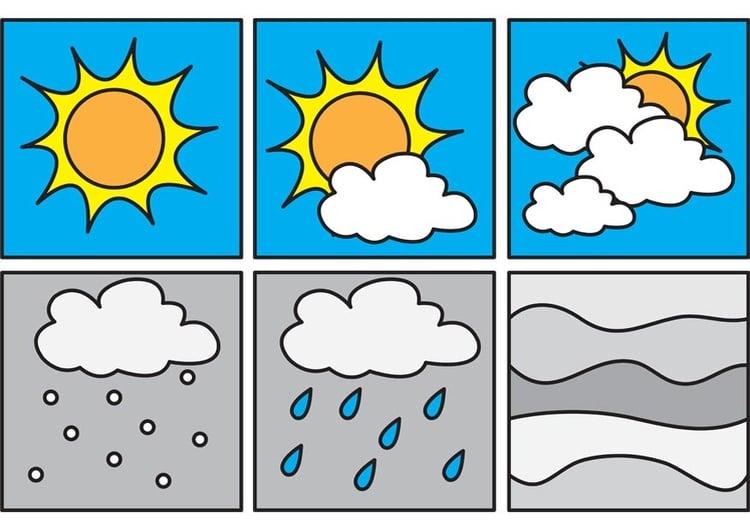 Malvorlage Pictogramme Wetter 1 Ausmalbild 23364