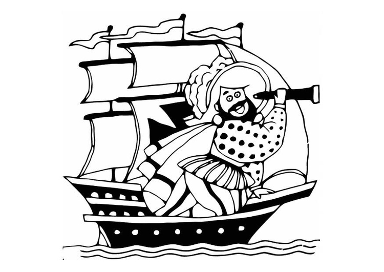Malvorlage Pirat Ausmalbild 10812