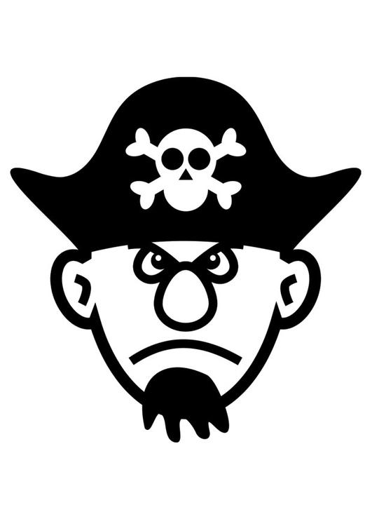 Malvorlage Pirat - Kostenlose Ausmalbilder Zum Ausdrucken