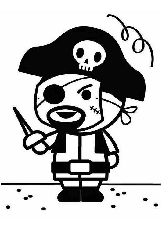Malvorlage Pirat Karneval - Kostenlose Ausmalbilder Zum