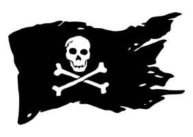 Malvorlage Piratenflagge   Ausmalbild 29437.