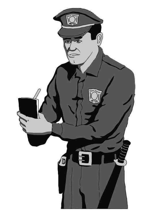 Malvorlage polizei uniform Coloring and Malvorlagan