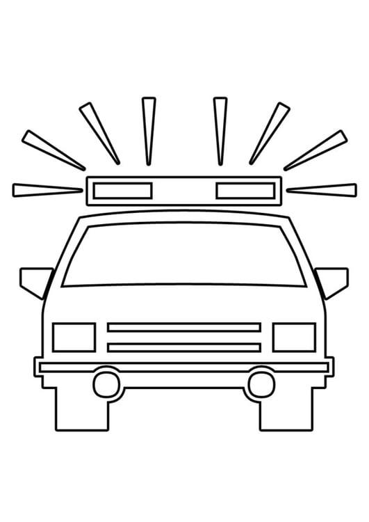 Malvorlage Polizeiauto Ausmalbild 22563