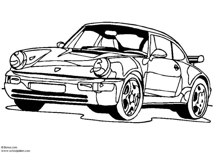 Malvorlage Porsche
