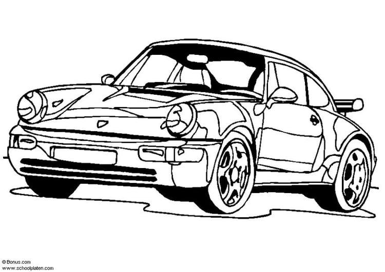 Malvorlage Porsche 911 Turbo Ausmalbild 5443